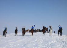 Была организована совместная тренировка по конному спорту