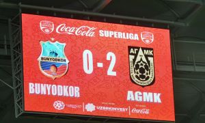 Vadim Abramov's FC Bunyodkor receive a 2-0 defeat from FC AGMK