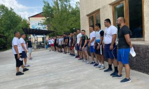 The national team of Uzbekistan in sports and combat sambo has started training cam
