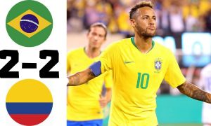 Бразилия - Колумбия 2:2 (видео)