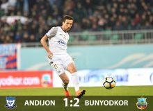 Кубок Узбекистана: «Бунёдкор» на выезде одолел «Андижан» и вышел в полуфинал