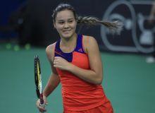 Sabina Sharipova advances to the quarterfinal at the W25 Hua Hin ITF Tournament in Thailand