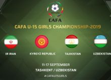 Tashkent to host Central Asian Football Association U-15 Girls Championship 2019 in September