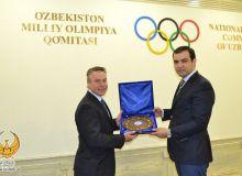 Директор Департамента по спорту Международного союза велосипедистов Фредрик Магне посетил НОК