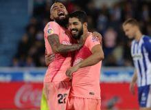 """Ла Лига. """"Барселона"""" навбатдаги ғалабасини """"Алавес"""" майдонида қўлга киритди"""