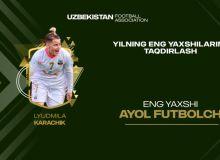 Людмила Карачик – Лучший футболист женщина 2020 года в Узбекистане!