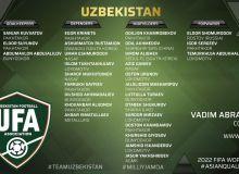 Расширенный состав национальный сборной Узбекистана