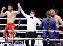 What was the level of Uzbek referees working at the boxing match in Tashkent?
