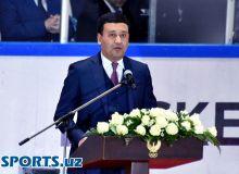 Умид Ахматджанов открыл первый чемпионат Узбекистана по хоккею