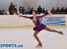 Uzbekistan Figure Skating Tournament takes place at the Ice Avenue