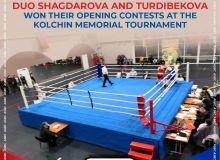 Uzbekistan's ladies duo Shagdarova and Turdibekova won their opening contests at the Kolchin Memorial Tournament