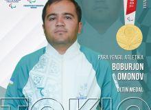 Бобуржон Омонов — чемпион и рекордсмен Паралимпиады Токио-2020