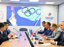 Ўзбекистон ва Россия Миллий олимпия қўмитаси президентлари учрашишди