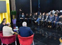 Президент НОК и министр физической культуры и спорта провели встречу с представителями СМИ