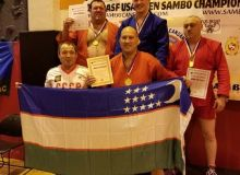 Самбисты Узбекистана на открытом чемпионате США завоевали 8 медалей
