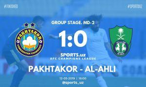 Marat Bikmaev secures a 1-0 win for FC Pakhtakor over Al Ahli Saudi FC