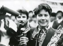 Uzbekistan skier Lina Cheryazova, the first woman to win an Olympic aerials skiing gold medal dies at 50