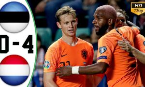 Эстония - Голландия 0:4 (видео)