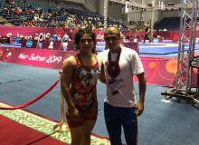 Рушана Абдурасулова бронза медали сохиби