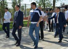 Умид Аҳмаджонов бошчилигидаги делегация спорт фестифали учун Нукусга етиб борди
