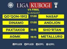 UzPFL announces kick-off times for Uzbekistan League Cup Quarterfinals