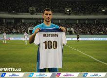 Нестеров провёл 100 матчей за сборную Узбекистана