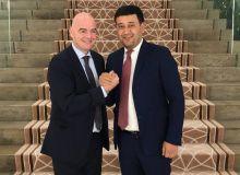 Умид Ахматджанов встретился в Дохе с Президентом ФИФА Джанни Инфантино
