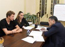 Президент НОК принял первую ракетку нашей страны Дениса Истомина