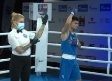Shakhzod Muzaffarov defeated the boxer from Kazakhstan