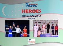 ASBC Heroes – Uzbekistan's 17-year-old Feruza Kazakova who began boxing ten years ago