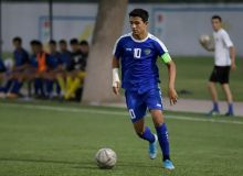 U16 Uzbekistan play a friendly match against Tajik side in Khujand