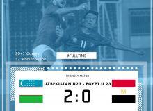 Олимпийская сборная Узбекистана одержала уверенную победу над Египтом