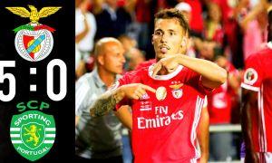 """Португалия Суперкубоги. Лиссабон дербисида """"Бенфика"""" """"Спортинг"""" дарвозасига жавобсиз 5 та гол урди"""