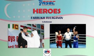 ASBC Heroes – Uzbekistan's best boxer from the 2006 age group Farrukh Tulaganov