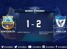 «Андижан» в Ташкенте обыграл «Бунёдкор»
