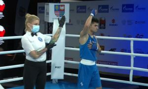 Shakhzod Muzaffarov defeated the boxer from Kazakhstan