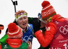 Пхёнчхан-2018: Асли қозоғистонлик биатлончи қиз Беларусь термаси билан Олимпиада чемпиони бўлди