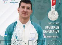 Uzbekistan's Davurkhon Karomatov finishes second in 2020 Paralympics