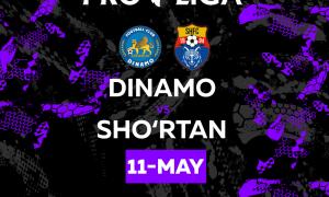 Матч между «Динамо» и «Шуртан» состоится 11 мая