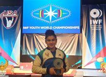 Uzbek Kumushkhon Fayzullaeva receives Best Athlete award at IWF Youth World Championships 2019