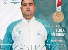 Uzbekistan's Elbek Sultonov wins his first Paralympic medal