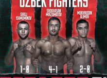 Shokhasan Mirzamatov took part in a pre-fight weigh-in