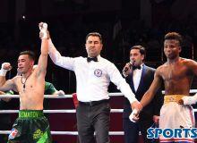 Photo Gallery. Hasanboy Dusmatov beats Johanys Argilagos
