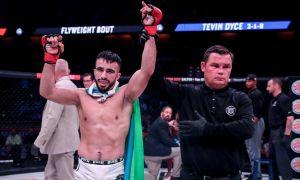 Uzbek kickboxer Zarrukh Adashev's Bellator TKO win in photos