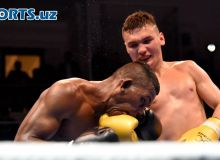 Photo Gallery. Makhmud Gaipov makes his rival to abandon the contest
