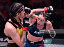 """UFC 258"". Полиана Виана рақибини оғритиш услуби эвазига таслим этди (видео)"