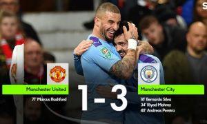 """""""Манчестер Сити"""" """"Олд Траффорд""""да """"Манчестер Юнайтед"""" дарвозасига 3 та гол урди (видео)"""