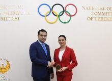 Жасур Матчанов в НОК принял Елену Исинбаеву