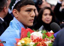 WBA IBF unified champion Akhmadaliev receives a heroic welcome in Tashkent