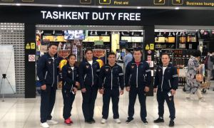 Uzbek weightlifters leave for the 2019 Asian Weightlifting Championships